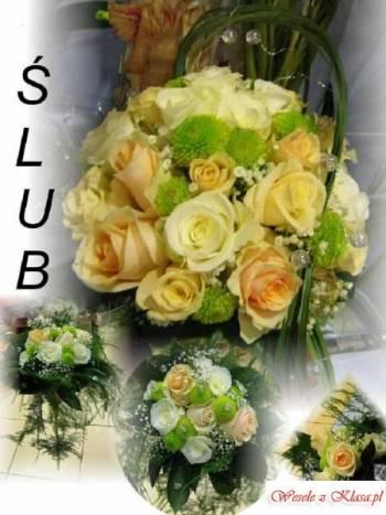 kwiaty do ślubu,obsługa kwiatowa, Kwiaciarnia, bukiety ślubne Lublin