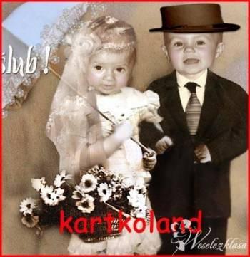 Zaproszenia ze zdjęciem dodatki ślubne kartkoland naklejki zawieszki, Zaproszenia ślubne Żarki
