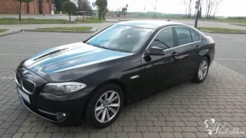 Luksusowe BMW 5 *czarne*, Samochód, auto do ślubu, limuzyna Zduny