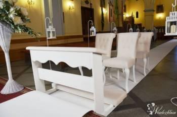 Wypożyczenie białego dywanu, klęcznika i krzeseł ślubnych., Dekoracje ślubne Grodzisk Mazowiecki
