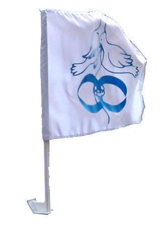 Flagi samochodowe ślubne, Wrocław - zdjęcie 1