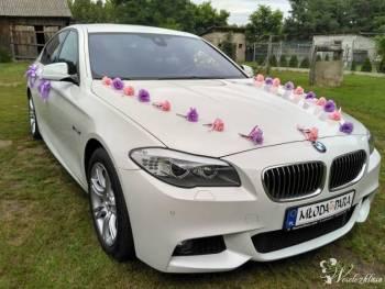 BMW 5 F10  *Białe* M pakiet wesele auto do ślubu, Samochód, auto do ślubu, limuzyna Belsk Duży