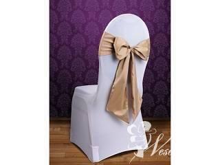 Pokrowce na krzesła - ślub - wypożyczanie, Dekoracje ślubne Poniatowa