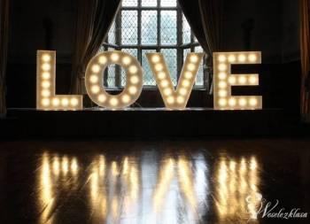 OGROMNY Podświetlany Napis LOVE na Ślub Wesele, Napis Love Kłecko