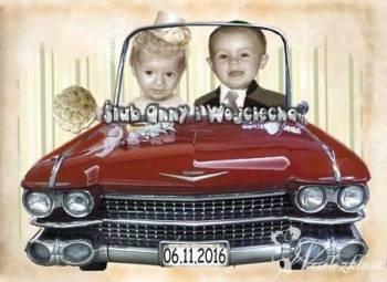 Zaproszenia ze zdjęciem dodatki ślubne kartkoland naklejki zawieszki, Zaproszenia ślubne Ustroń