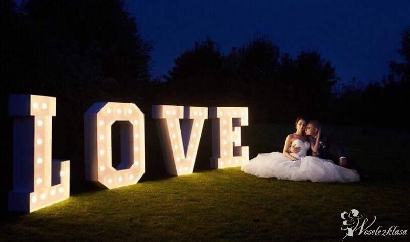 Żarówkowe Love napis led Love na wesele, Śrem - zdjęcie 1