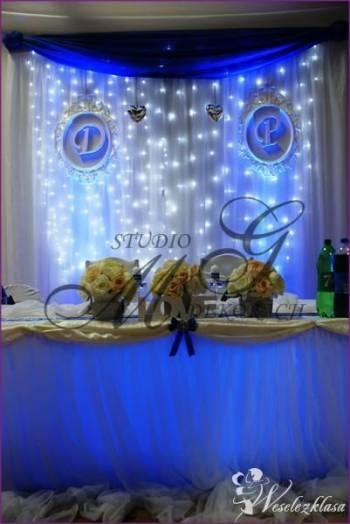 dekoracje światłem led sal weselnych , Dekoracje światłem Łęczna