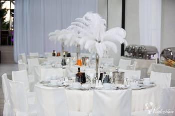 Ekskluzywne dekoracje strusimi piórami W stylu Glamour / Great Gatsby, Dekoracje ślubne Złotoryja