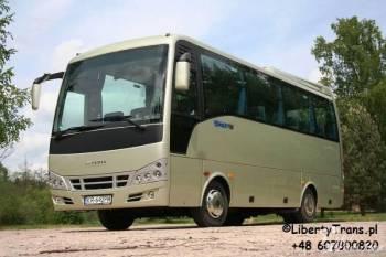 wynajem autobusów  AUTOBUS 28os z klimatyzacją, Wynajem busów Drzewica