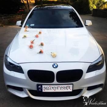 Białe BMW 5er M-Pakiet Shadowline, Samochód, auto do ślubu, limuzyna Łabiszyn