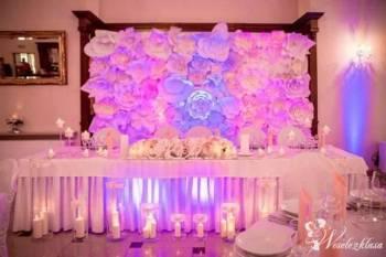 Ścianka Pikowana / ścianka z Kwiatów Chanel / Napis Love, Dekoracje ślubne Sieniawa