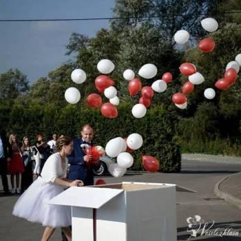 Balony z helem w pudełku / balony świecące / Napis Love, Balony, bańki mydlane Przecław