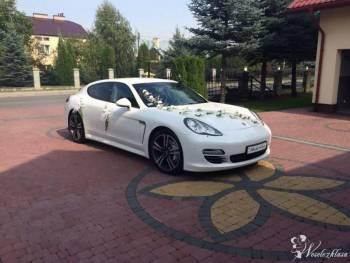 Luksusowe białe Porsche Panamera!, Samochód, auto do ślubu, limuzyna Sokołów Małopolski