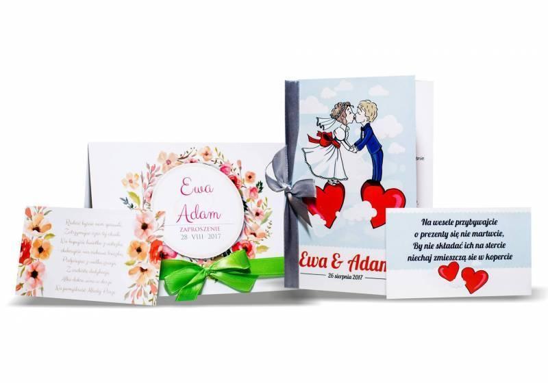 InviteYou - nowoczesne zaproszenia ślubne z wstążką, wkładką i kopertą, Krosno - zdjęcie 1