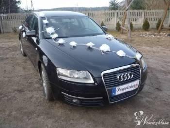 Audi A6, Limuzyna, samochód, Samochód, auto do ślubu, limuzyna Pniewy
