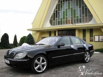 Mercedes S (Long) wyjątkowe auto w wyjątkowym dniu, Samochód, auto do ślubu, limuzyna Bardo