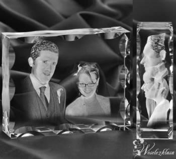 Zdjęcia w krysztale, dwu i trójwymiarowe NA PREZENT!, Prezenty ślubne Mrocza