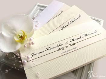 Zaproszenie i zawiadomienie ślubne, fotografia, Zaproszenia ślubne Miłakowo