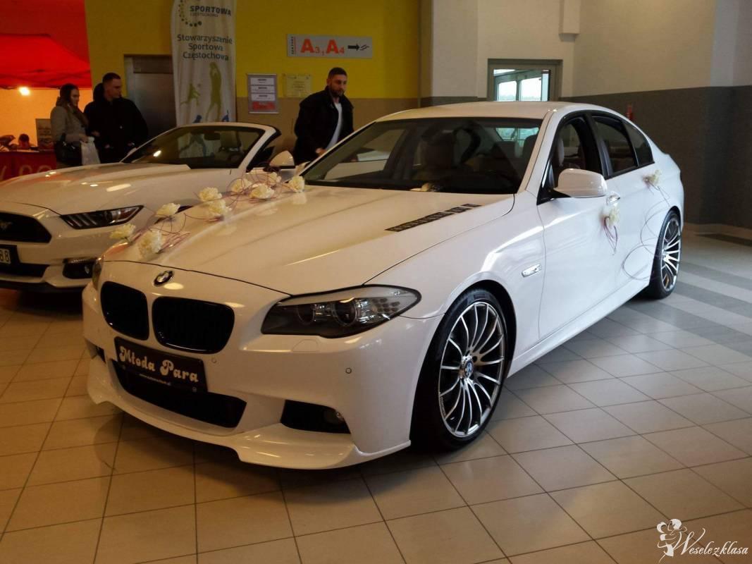 BMW 5 F10 *BIAŁA* Śluby wesela imprezy, Częstochowa - zdjęcie 1