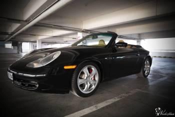 Porsche 911 *czarne* cabrio do ślubu, Samochód, auto do ślubu, limuzyna Strzyżów