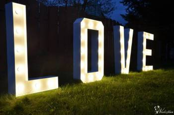 Napis LOVE LED Podświetlany napis LOVE HIT 2018 dekoracja kościoła, Napis Love Bydgoszcz