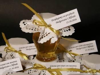Manufaktura Miodu - urocze miodowe podziękowania dla gości, Prezenty ślubne Gryfów Śląski