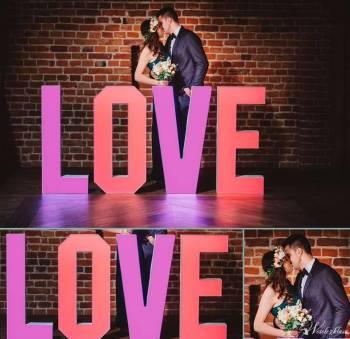 Litery LOVE 110 cm - napis Led kolorowy, Napis Love Mirsk