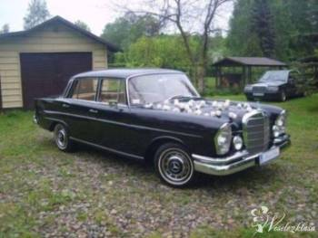 Zabytkowy Mercedes W111 do ślubu Retro Oldtimer, Samochód, auto do ślubu, limuzyna Iłża