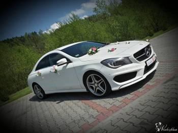 Piekny Mercedes Cla AMG - PROMOCYJNE CENY,DEKORACJA I TABLICE GRATIS, Samochód, auto do ślubu, limuzyna Pszczyna