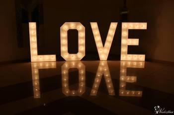 Napis LOVE& Miłość + Ciężki Dym+ FotoBudkaUśmiechnijSię :), Napis Love Kosów Lacki