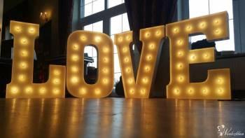 Napis LOVE wesele kolacje zaręczyny LOVE 3D świecące, Napis Love Pruszcz Gdański