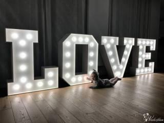Litery 3D ,napis LOVE retro Mrs&Mr;, you&me;,wesele, ślub,wynajem,auta,  Wrocław