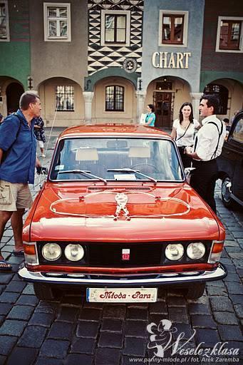 Fiat 125p, ślub, kawalerski, panieński, Poznań - zdjęcie 1