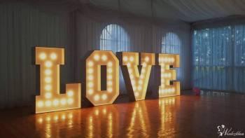 Ogromny Podświetlany Napis LOVE 3D, Napis Love Lublin