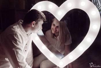 Serce podświetlane żarówkami LED- niesamowita dekoracja na wesele, Dekoracje światłem Brańsk