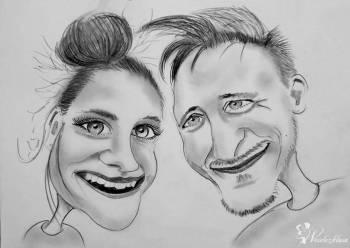 Karykatury na żywo  -  Atrakcja dla gości weselnych, Artysta Gdańsk