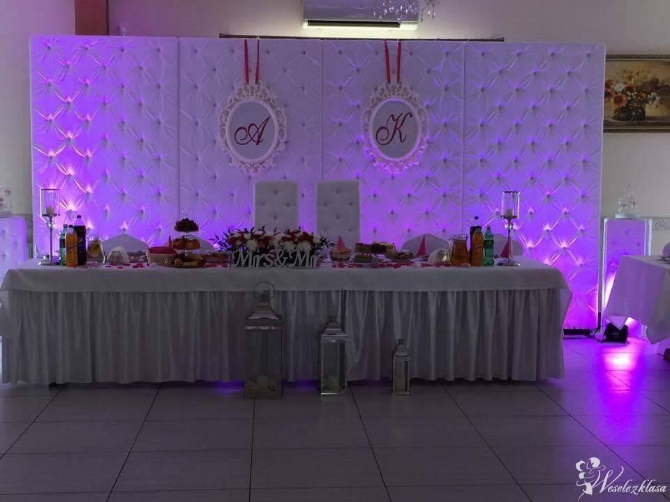 Dekoracje sal weselnych pokrowce ścianka pikowana, Kielce - zdjęcie 1