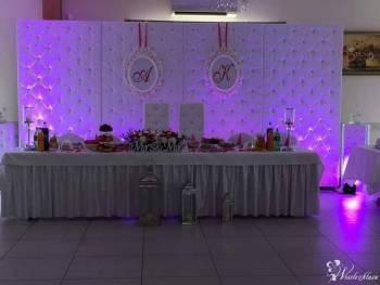 Dekoracje sal weselnych pokrowce ścianka pikowana, Dekoracje ślubne Bodzentyn