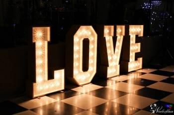 Litery Świetlne LOVE / BAR, Napis Love Opalenica