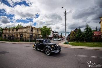 Stylowy Austin Six z 1936r., Samochód, auto do ślubu, limuzyna Łapy
