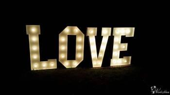 Podświetlany napis LOVE - dekoracja weselna, Dekoracje ślubne Milanówek