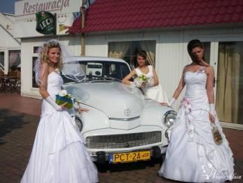 Zabytkowa *Warszawa* na każdą okazję, Samochód, auto do ślubu, limuzyna Kłecko
