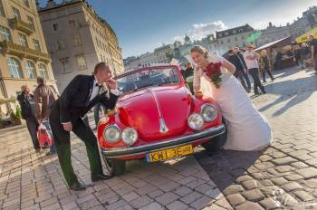 Oryginalny Garbus Kabriolet, Samochód, auto do ślubu, limuzyna Limanowa