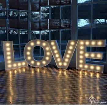 NAPIS LOVE 3D / DYWAN / DEKORACJE / OŚWIETLENIE, Dekoracje ślubne Łańcut