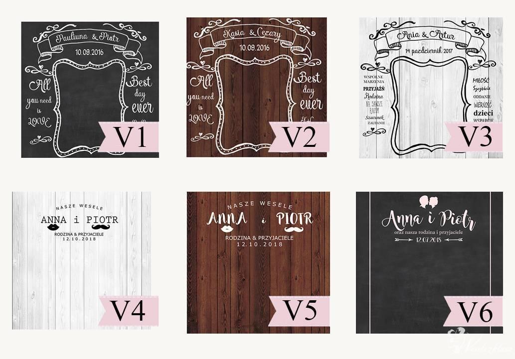 Ścianka ślubna, ścianka weselna, fotobudka.TŁO FOTOGRAFICZNE, Blachownia - zdjęcie 1