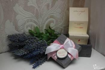 Zaproszenia, zawiadomienia, pudełka ozdobne na każdą okazję., Artykuły ślubne Ostroróg