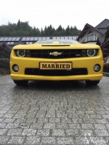 Chevrolet Camaro SS 6,2l do Ślubu i imprez okolicnościowych., Samochód, auto do ślubu, limuzyna Glinojeck