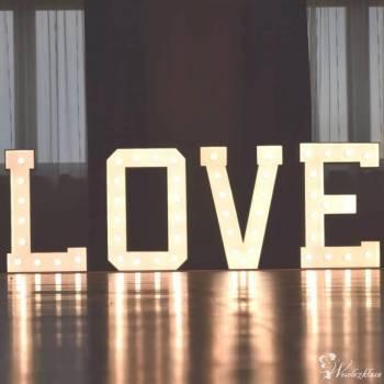Napis Love, dekoracje balonowe, tablica weselna - Decor-Fun, Napis Love Przecław
