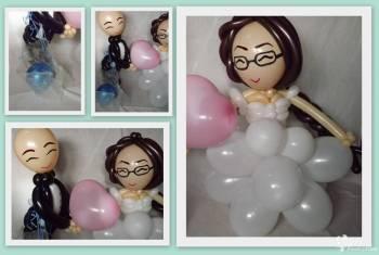 Para Balonowa - oryginalna dekoracja, Balony, bańki mydlane Czempiń