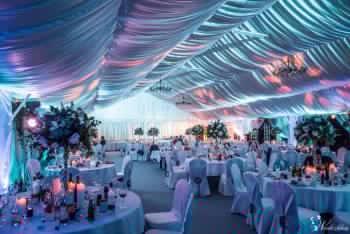 Ekskluzywny namiot weselny w plenerze Pałacu Bagatela, Sale weselne Kalisz
